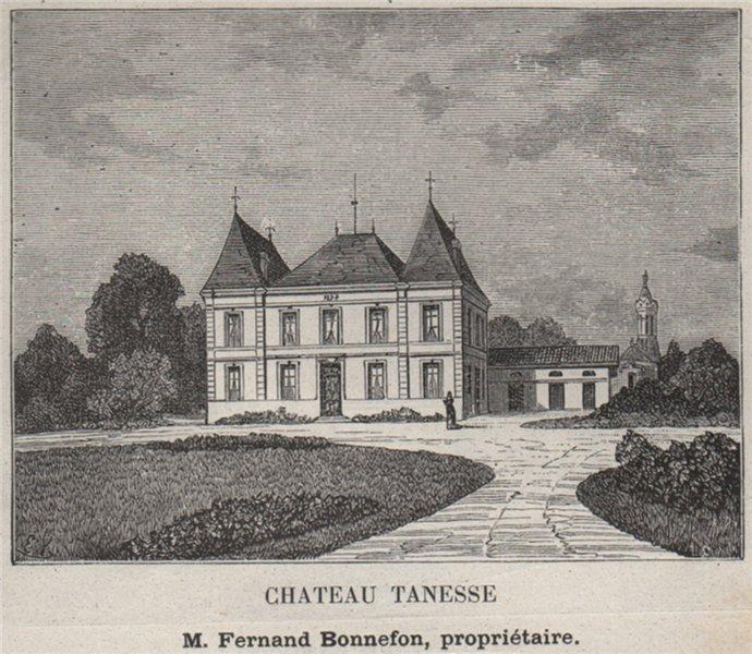Associate Product BOURGEAIS. BAYON, SAMONAC. Chateau Tanesse. Bonnefon. Bordeaux. SMALL 1908