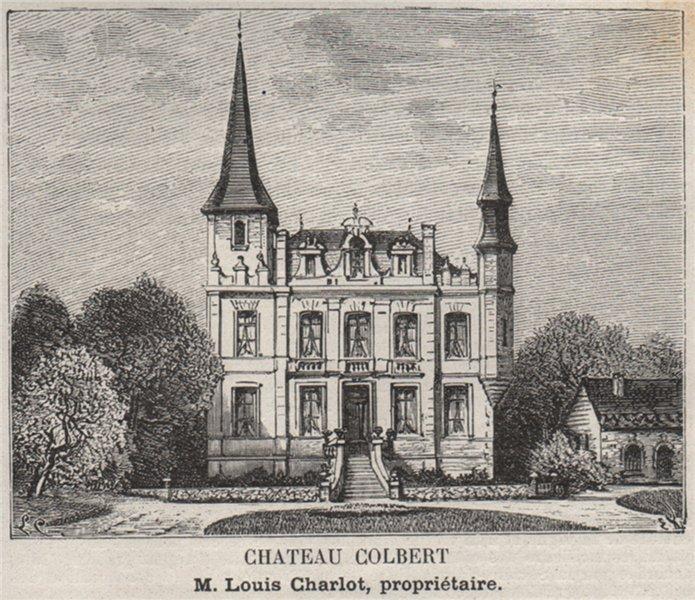 Associate Product BOURGEAIS. SAMONAC, COMPS. Chateau Colbert. Charlot. Bordeaux. SMALL 1908