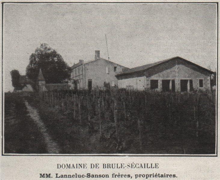 Associate Product BOURGEAIS. TAURIAC. Domaine de Brule-Sécaille. Lanneluc-Sanson. SMALL 1908