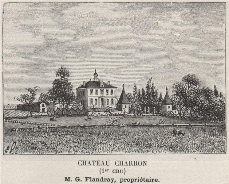 Associate Product BLAYAIS. SAINT-MARTIN-LA-CAUSSADE. Chateau Charron (1er Cru). SMALL 1908 print