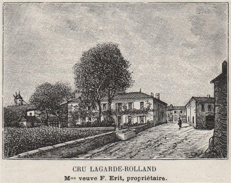 Associate Product BLAYAIS. SAINT-SEURIN-DE-CURSAC. Cru Lagarde-Rolland. Erit. SMALL 1908 print