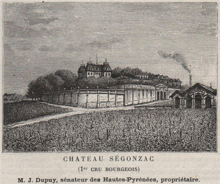 BLAYAIS. SAINT-GENÈS-DE-FOURS. Chateau Ségonzac (1er Cru Bourgeois). SMALL 1908
