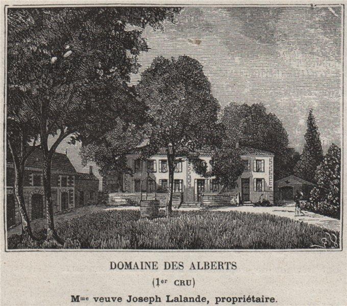 Associate Product BLAYAIS. MAZION. Domaine des Alberts (1er Cru). Lalande. Bordeaux. SMALL 1908