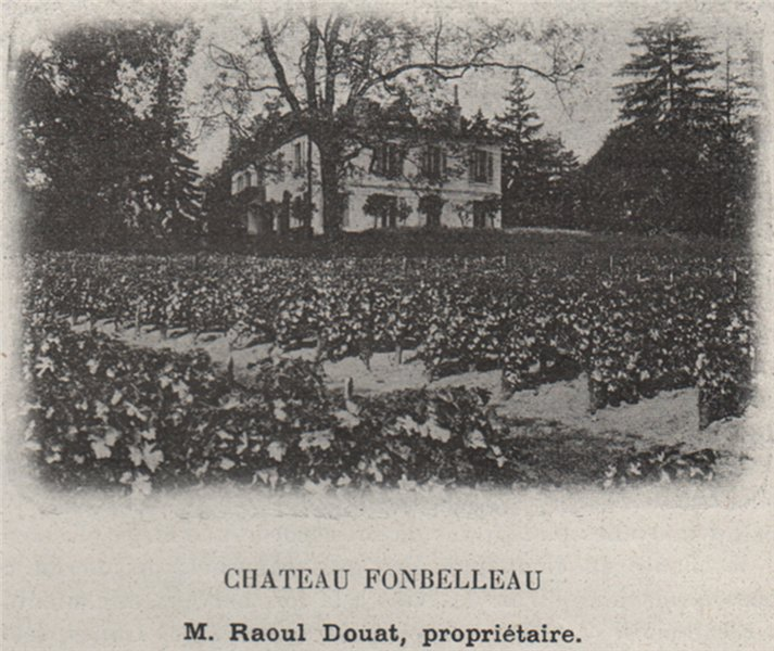 Associate Product ENTRE-DEUX-MERS. LORMONT. Chateau Fonbelleau. Douat. Bordeaux. SMALL 1908
