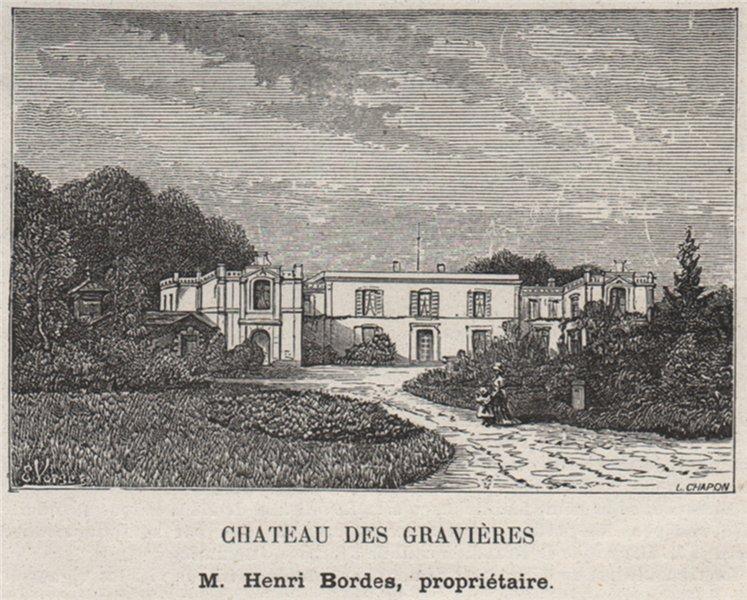 Associate Product ENTRE-DEUX-MERS. LORMONT. Chateau des Gravières. Bordes. Bordeaux. SMALL 1908