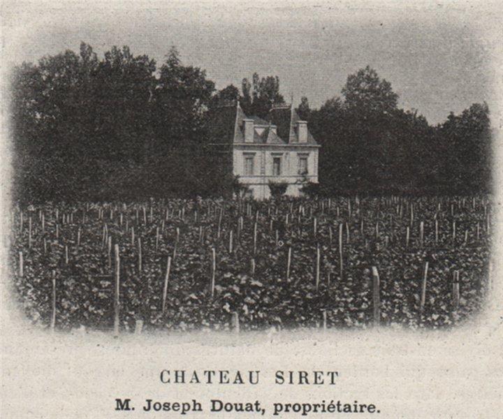 ENTRE-DEUX-MERS. SAINTE-EULALIE. Chateau Siret. Douat. Bordeaux. SMALL 1908