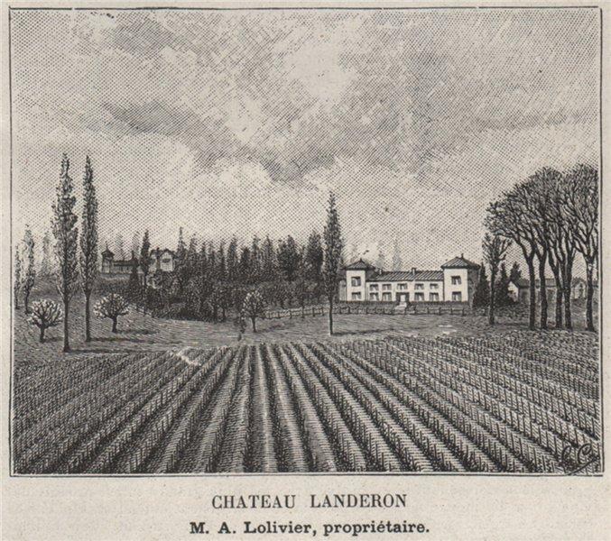 Associate Product ENTRE-DEUX-MERS. POMPIGNAC. Chateau Landeron. Lolivier. Bordeaux. SMALL 1908