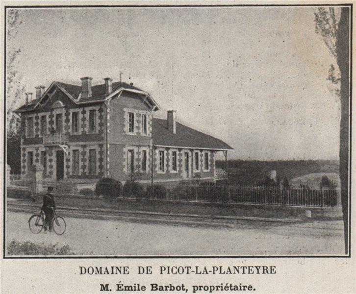 Associate Product ENTRE-DEUX-MERS. SALLEBOEUF, CAMARSAC. Domaine de Picot-la-Planteyre. SMALL 1908