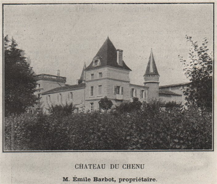 Associate Product ENTRE-DEUX-MERS. BONNETAN, FARGUES-SAINT-HILAIRE. Chateau du Chenu. SMALL 1908