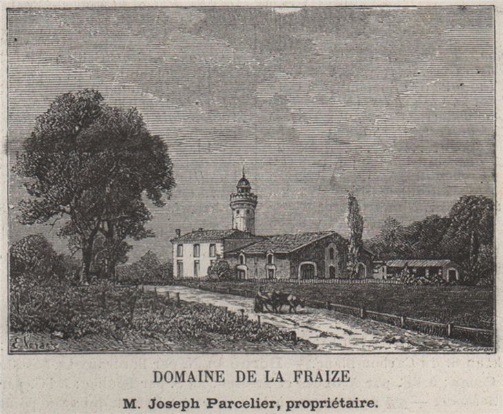 Associate Product ENTRE-DEUX-MERS. FARGUES-SAINT-HILAIRE. Domaine de la Fraize. SMALL 1908 print