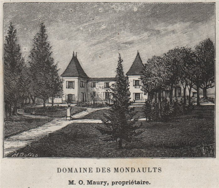 Associate Product ENTRE-DEUX-MERS. FLOIRAC. Domaine des Mondaults. Maury. Bordeaux. SMALL 1908