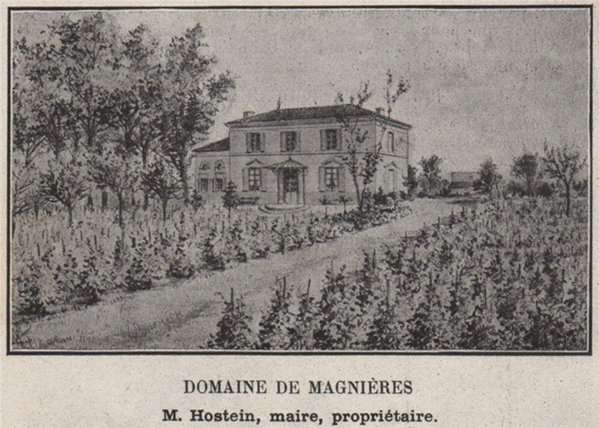 Associate Product ENTRE-DEUX-MERS. BOULIAC. Domaine de Magnières. Hostein. Bordeaux. SMALL 1908