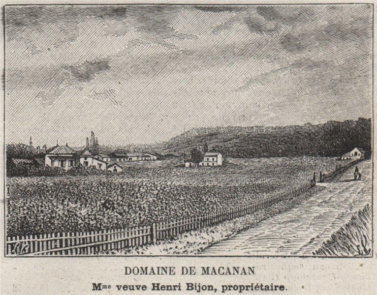 Associate Product ENTRE-DEUX-MERS. BOULIAC. Domaine de Macanan. Bijon. Bordeaux. SMALL 1908