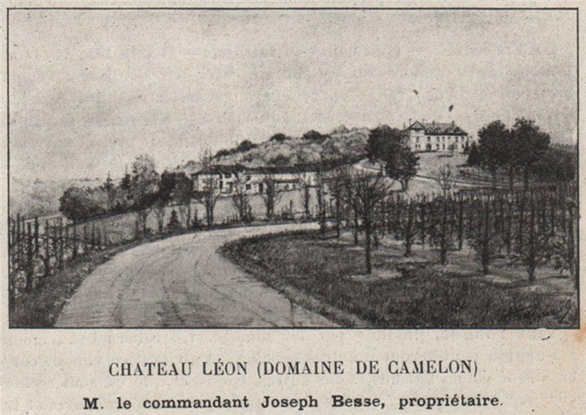 Associate Product ENTRE-DEUX-MERS. CARIGNAN. Chateau Lèon (Domaine de Camelon). Besse. SMALL 1908