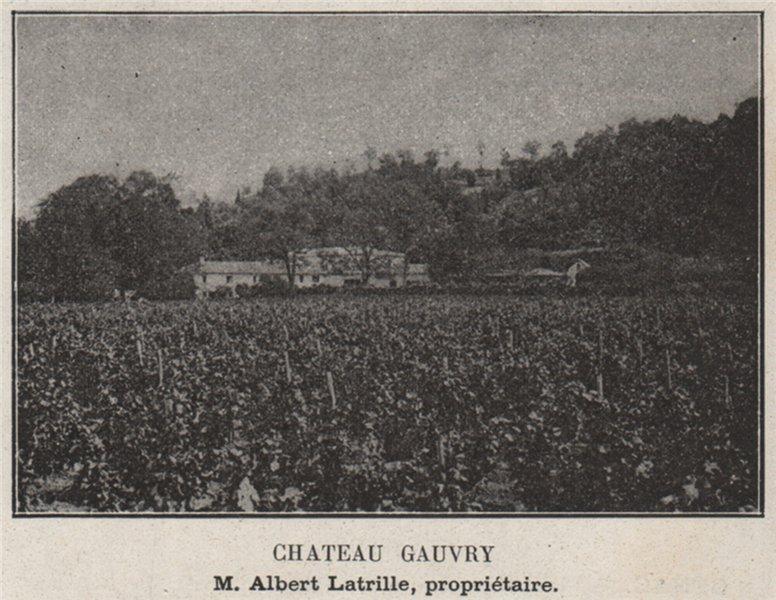 Associate Product ENTRE-DEUX-MERS. LATRESNE. Chateau Gauvry. Latrille. Bordeaux. SMALL 1908