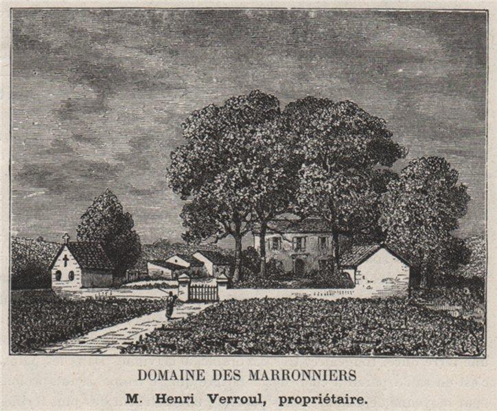 Associate Product ENTRE-DEUX-MERS. CAMBES. Domaine des Marronniers. Verroul. Bordeaux. SMALL 1908