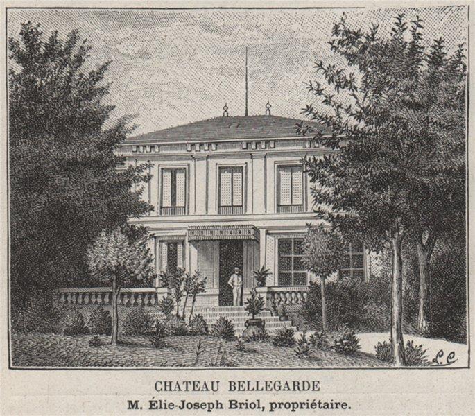 Associate Product ENTRE-DEUX-MERS. PAILLET. Chateau Bellegarde. Briol. Bordeaux. SMALL 1908
