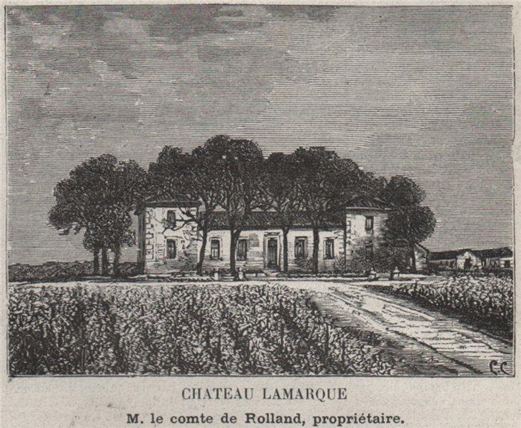 Associate Product ENTRE-DEUX-MERS. SAINTE-CROIX-DU-MONT. Chateau Lamarque. Rolland. SMALL 1908
