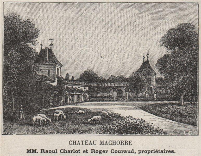 Associate Product ENTRE-DEUX-MERS. SAINT-MARTIN-DE-SESCAS. Chateau Machorre. Courauds. SMALL 1908