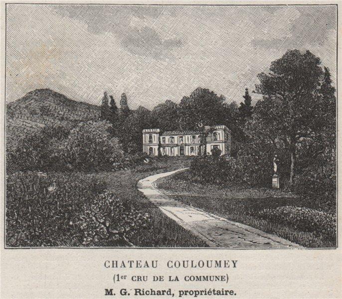 Associate Product ENTRE-DEUX-MERS. CASSEUIL. Chateau Couloumey (1er Cru de la Commune). SMALL 1908