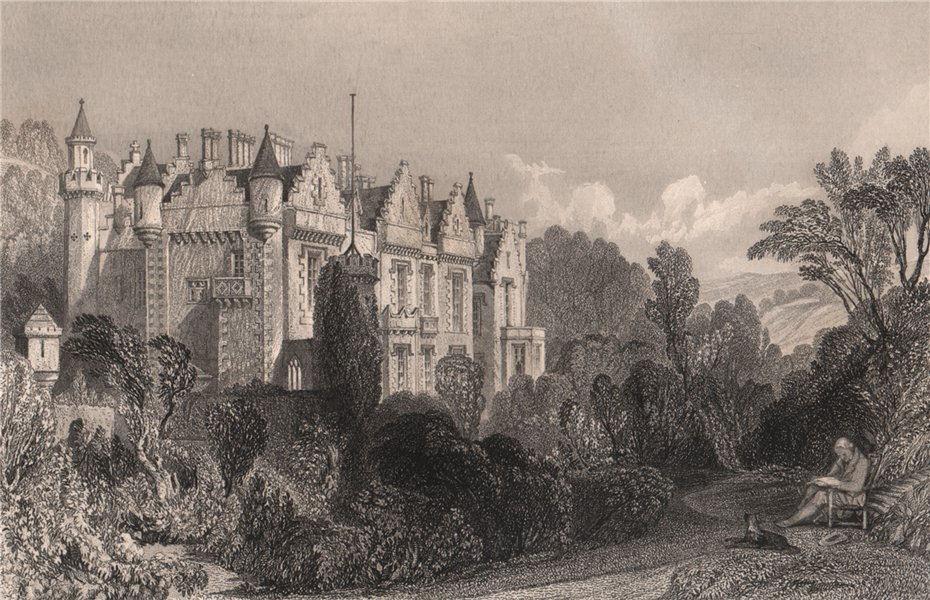 Abbotsford. Roxburghshire. Scotland. ALLOM 1838 old antique print picture