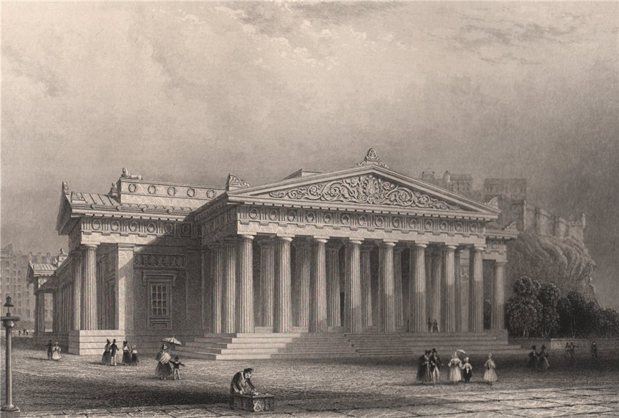 Associate Product The Royal Institution, Edinburgh. Scotland. KEMP 1838 old antique print