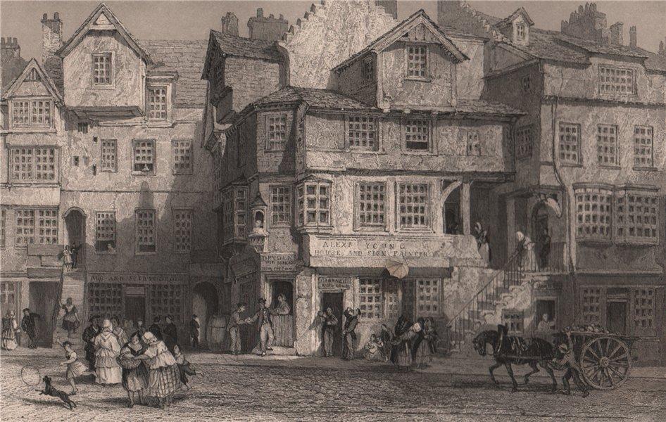 Associate Product The House of John Knox. High street Edinburgh. Scotland. ALLOM 1838 old print