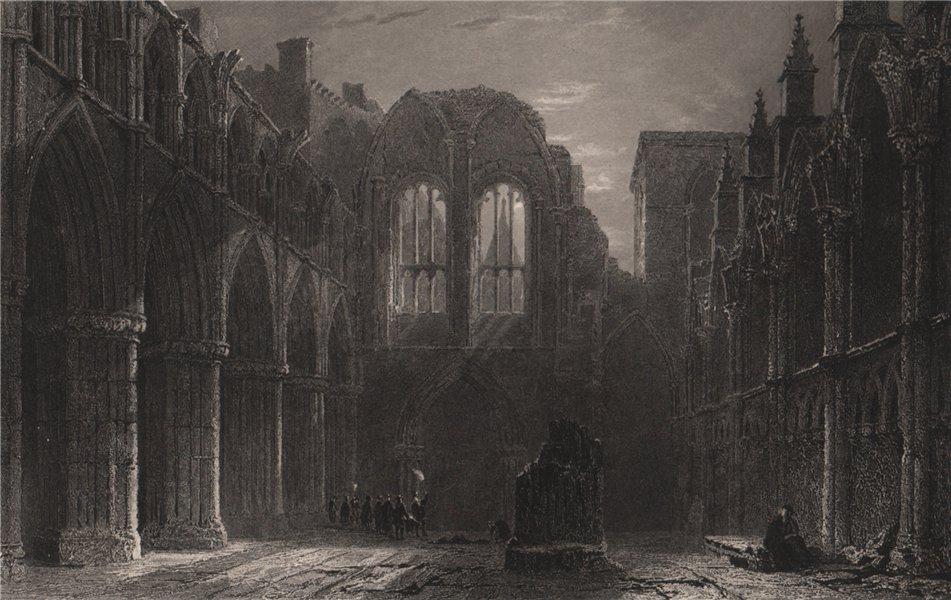 Associate Product Holyrood Chapel. Edinburgh. Scotland. ALLOM 1838 old antique print picture