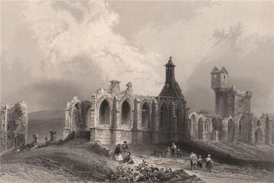 Associate Product Crossraguel Abbey, Near Maybole. Ayrshire. Scotland. BARTLETT 1838 old print