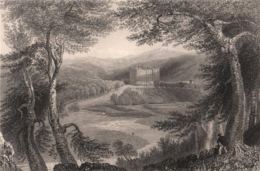 Associate Product Drumlanrig Castle. Dumfries-shire. Scotland. BARTLETT 1838 old antique print