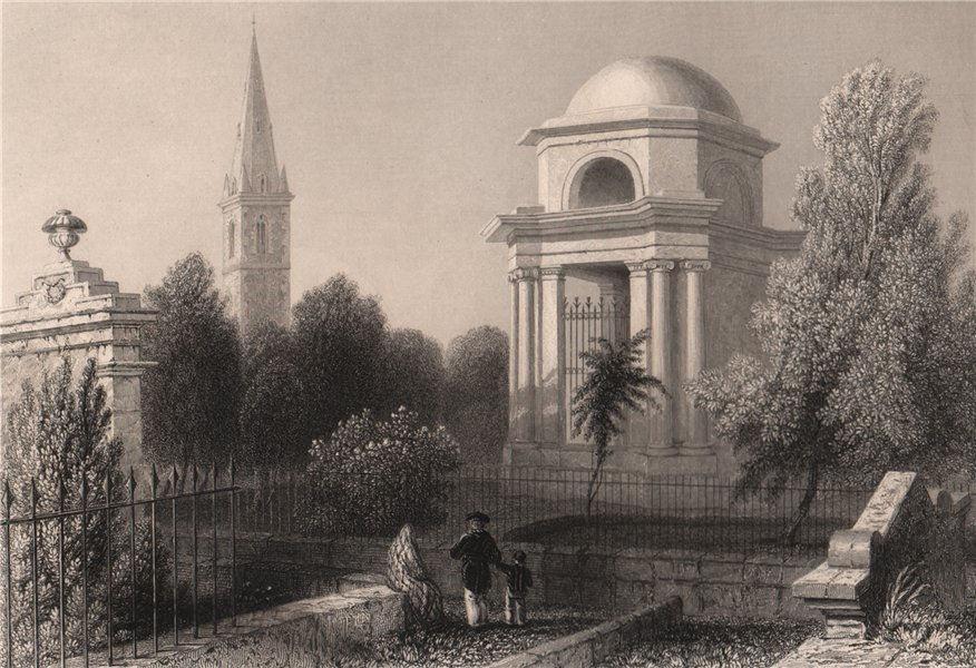 Associate Product Mausoleum of Burns. Dumfries. Scotland. BARTLETT 1838 old antique print