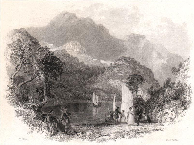 Associate Product Pass of the Trossachs, Loch Katrine. Scotland. ALLOM 1838 old antique print