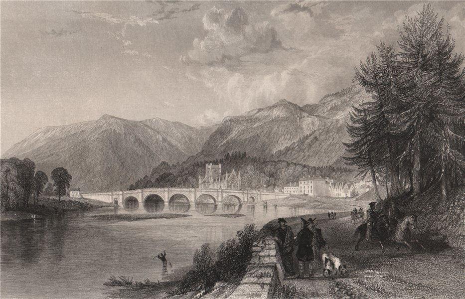 Associate Product Dunkeld. Perthshire. Scotland. ALLOM 1838 old antique vintage print picture