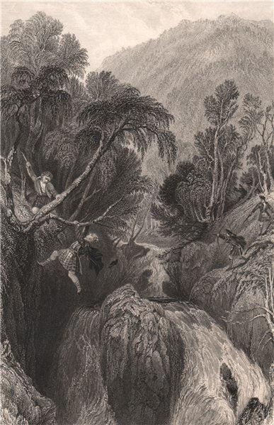 Associate Product Altsay Burn. Inverness-shire. Scotland. ALLOM 1838 old antique print picture