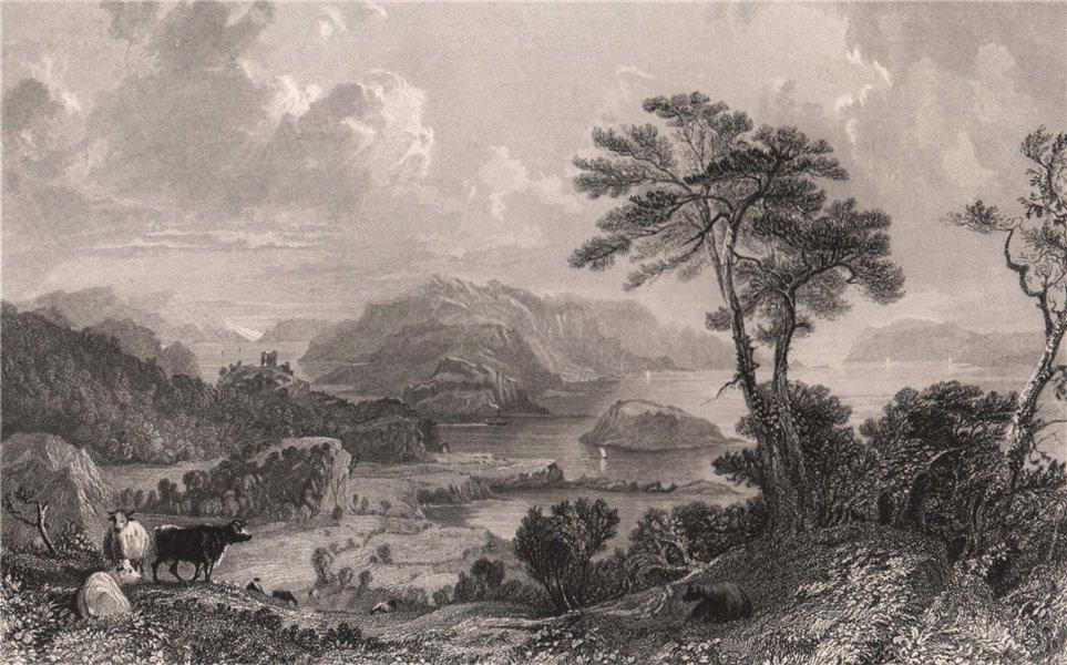 Associate Product Loch Linnhe; Looking South. Argyllshire. Scotland. ALLOM 1838 old print
