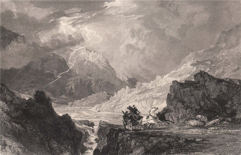 Associate Product Glen Croe between Loch Long and Cairndow. Scotland. ALLOM 1838 old print