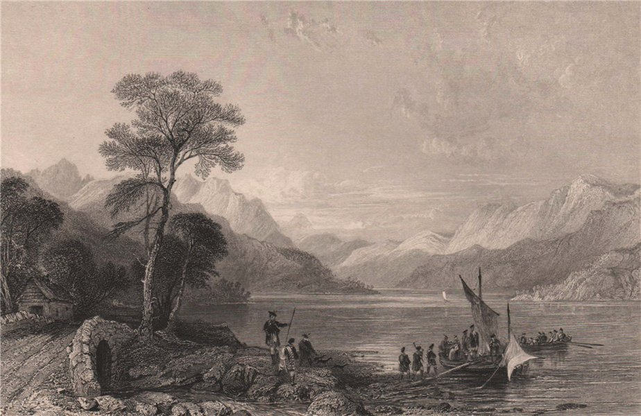 Associate Product Loch Lomond from below Tarbet. Dunbartonshire. Scotland. ALLOM 1838 old print