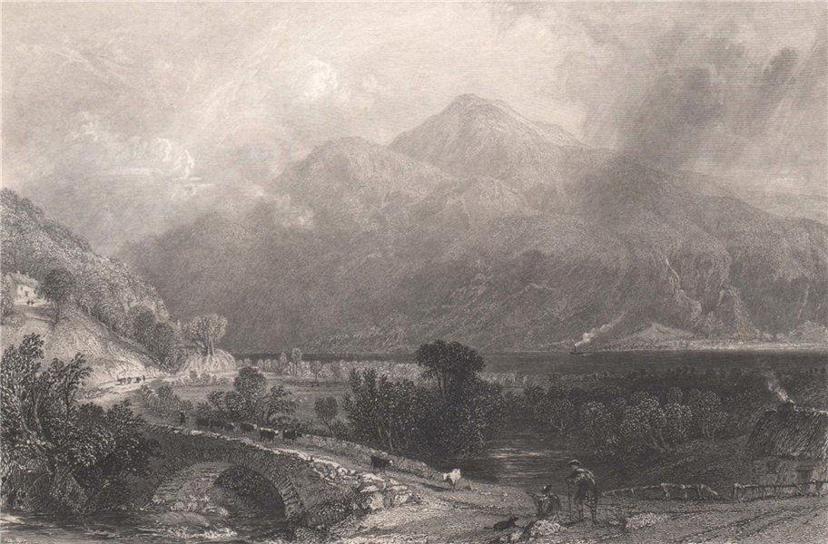 Associate Product Ben Lomond from Inveruglas. Dunbartonshire. Scotland. ALLOM 1838 old print