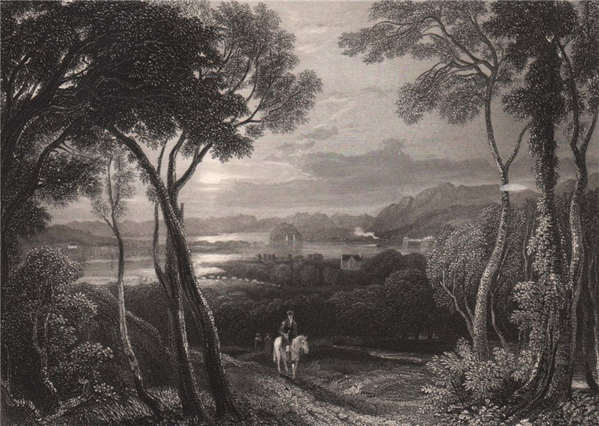 Associate Product The Clyde, with Dumbarton Castle in the distance. Scotland. MCCULLOCH 1838