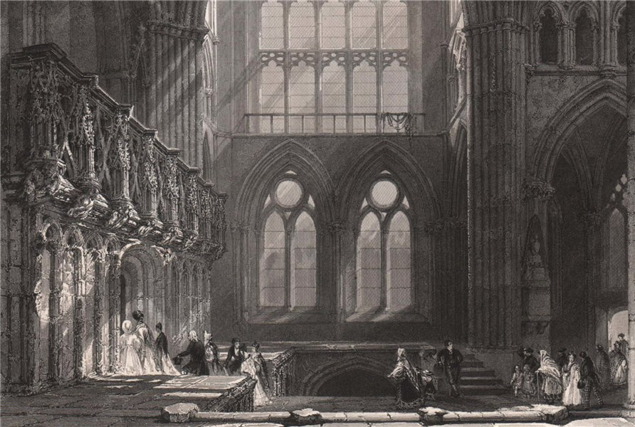 Associate Product Glasgow Cathedral. Lanarkshire. Scotland. ALLOM 1838 old antique print picture
