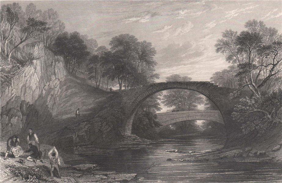 Associate Product The Roman Bridge over the Mouse. Near Lanark. Scotland. ALLOM 1838 old print