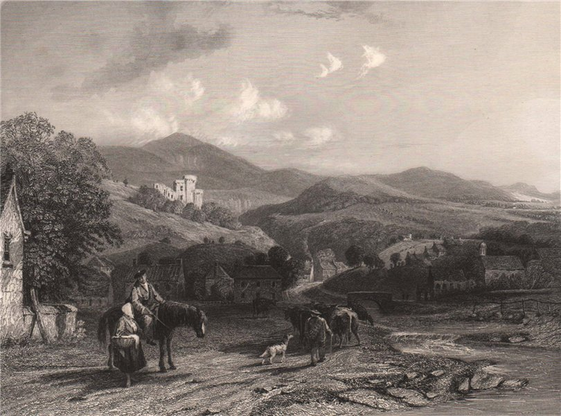 Associate Product Castle Campbell, from the Valley of Dollar. Perthshire. Scotland. ALLOM 1838