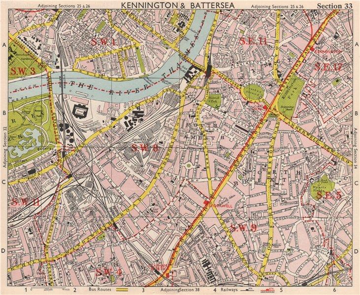 Sections Of London Map.S London Kennington Battersea Pimlico Brixton Lambeth Clapham