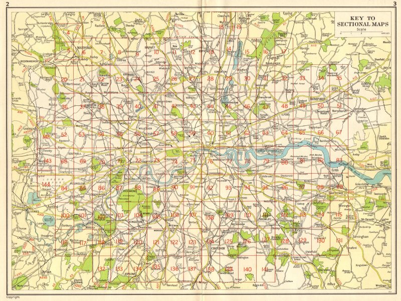 Associate Product LONDON. Index map. GEOGRAPHERS' A-Z 1964 old vintage plan chart