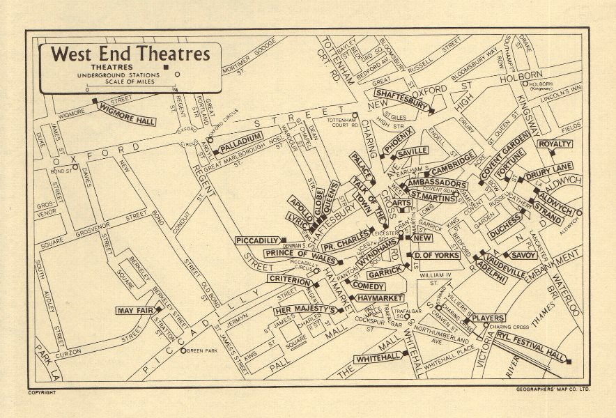 Street Map London West End.Details About London West End Theatres Geographers A Z 1964 Old Vintage Map Plan Chart