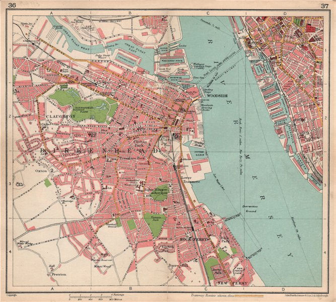 Associate Product BIRKENHEAD town/city plan. Queensway tunnel under construction 1928 old map