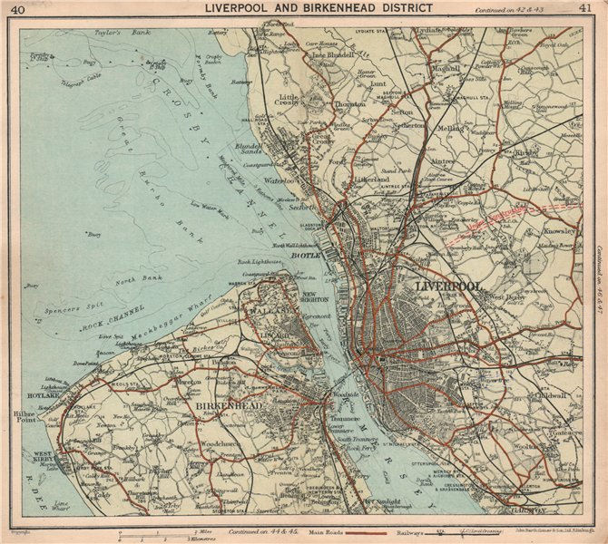 Details about MERSEYSIDE Birkenhead Liverpool Wirral Wallasey A580 under  construction 1928 map