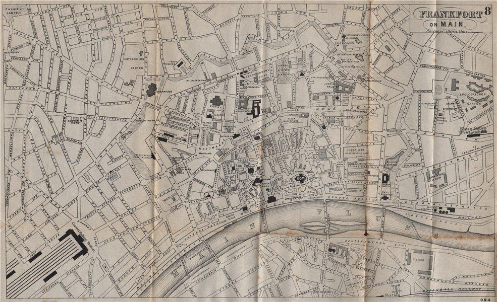Associate Product FRANKFURT AM MAIN. Antique town plan. City map. Germany. BRADSHAW 1895 old