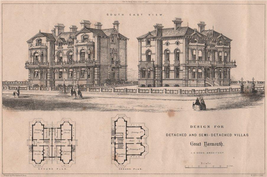 Associate Product Detached & semi-detached villas design, Great Yarmouth; J.S. Dodd. Norfolk 1867