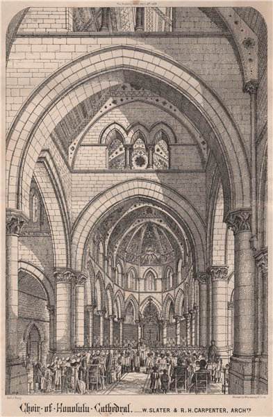 Associate Product Chain of Honolulu Cathedral; W. Slater & R.H. Carpenter, Archts. Hawaii 1868
